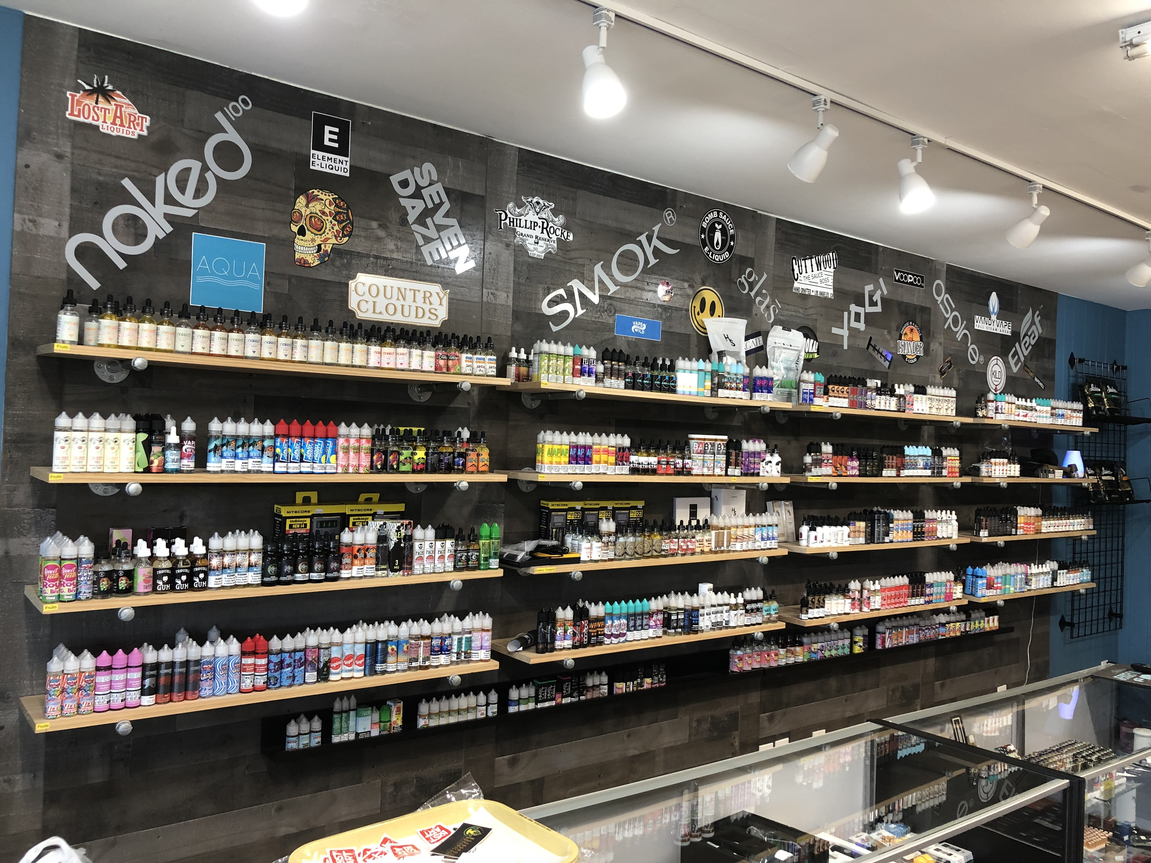 Vape juice wall